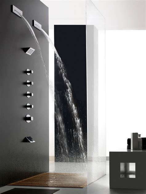 waterfall shower designs shir 210 waterfall shower by zazzeri design daniele bedini