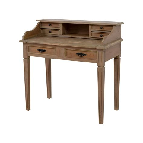 67 wooden desk with small hutch tables