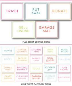 Garage Organization Categories The Ultimate Garage Sale Prep Kit A Free Printable