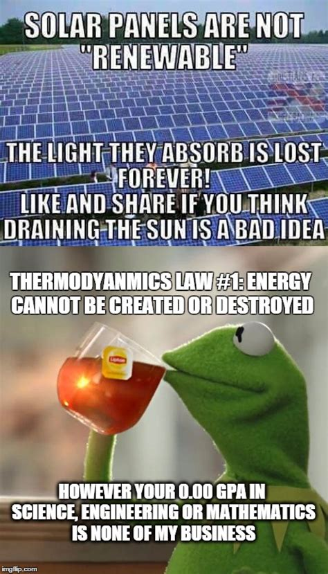 Solar Meme - response to solar idiot statement imgflip