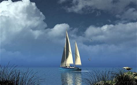 black yacht wallpaper sailing yacht in the sea wallpapers and images