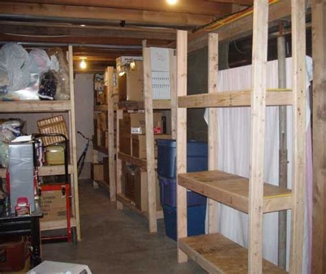 cheap easy  build storage shelves wood storage