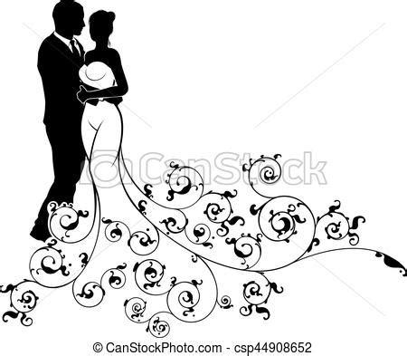 clipart sposi silhouette modello astratto sposo sposa matrimonio