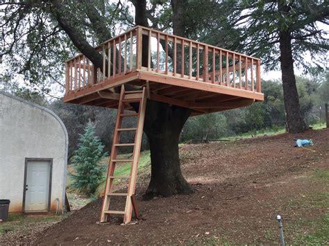 treehouse platform woodwork  woodbeck