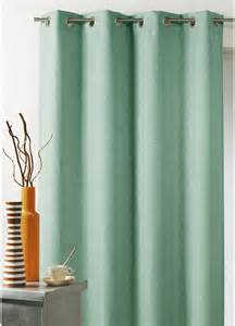 rideau toile uni aspect naturel vert d eau vert d eau