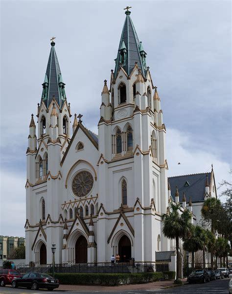 Ordinary Baptist Church In Savannah Ga #6: 1200px-Cathedral_of_St._John_the_Baptist_-_Savannah_GA_-_panorama.jpg