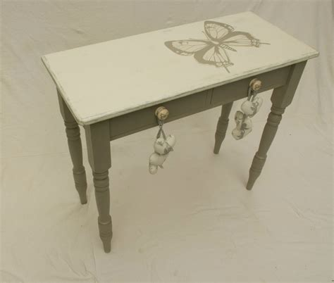 vintage shabby chic console table 01 03 touch the wood