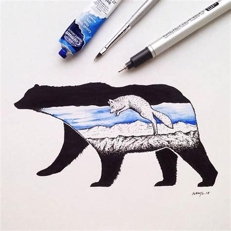 Combined Animal Drawings