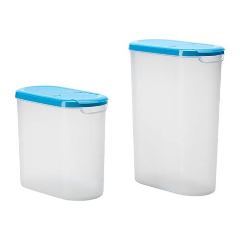 ikea food storage j 196 mka dry food jar with lid set of 2 2 5 3 5 l ikea
