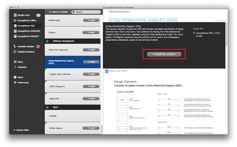 entity relationship software start using