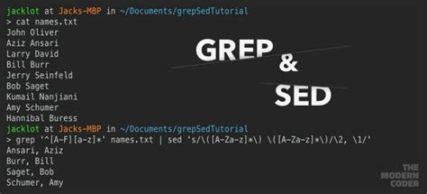 sed unix a simple introduction to grep and sed