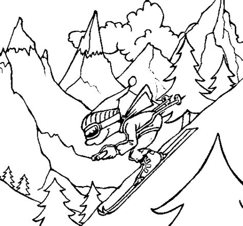 Dibujo De Esquiador Para Colorear Dibujos Net Coloriage De Ski Doo L