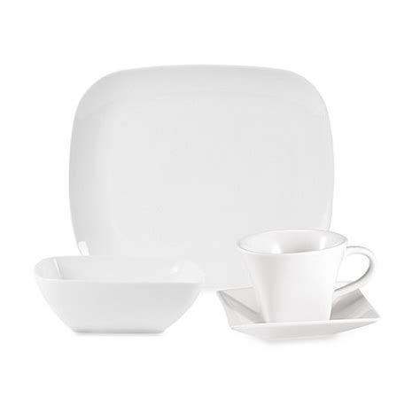 bed bath and beyond dinnerware everyday white 174 by fitz and floyd 174 rectangular dinnerware collection bed bath beyond