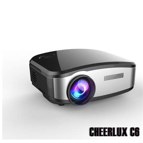 Projector L Proyektor Lu Tidur new arrival best cheerlux c6 digital mini projector led beamer lcd proyector with hdmi usb