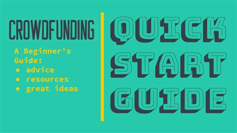 a beginners guide to resources how to start crowdfunding a beginner s guide to resources