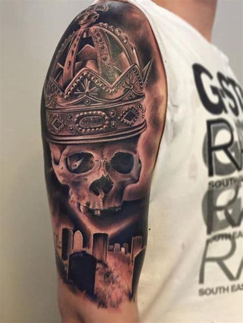 skull graveyard tattoo designs skull and cemetery design design of tattoosdesign
