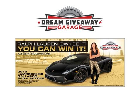 Supercar Giveaway - one week left to enter to win a lamborghini originally owned by ralph lauren new