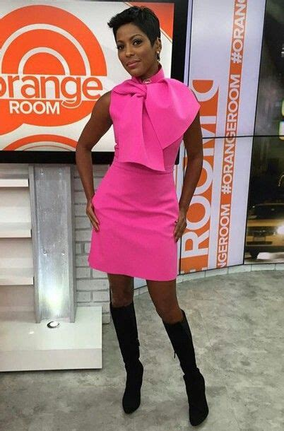 rperfume tamron hall wears beautiful hot pink dress with boots tamron hall love