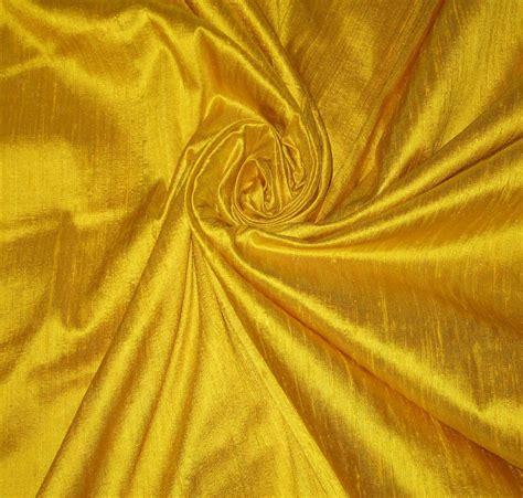 upholstery silk fabric bright sun sunny yellow 100 dupioni silk fabric yardage by