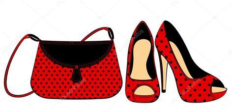 imagenes vectoriales de zapatos zapatos y bolso de mujer de dibujos animados archivo