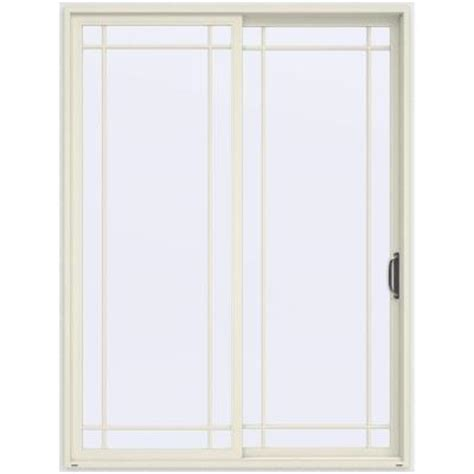 96 Patio Door Jeld Wen 72 In X 96 In V 4500 Vanilla Prehung Right Sliding 9 Lite Vinyl Patio