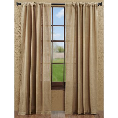natural and black curtains burlap natural curtains with tie backs www