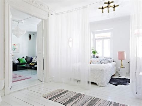 bedroom divider curtains curtain room dividers ideas 4 homes