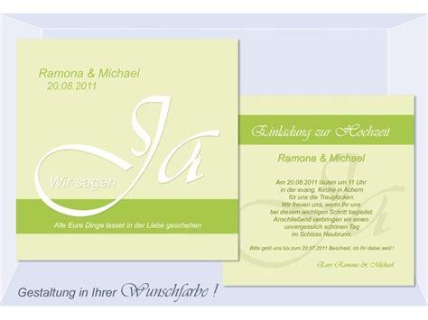 Hochzeitseinladung Ja by Einladungen Hochzeit Einladungskarten