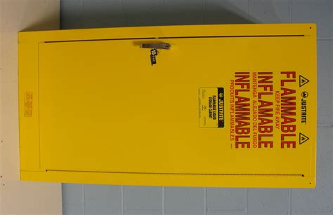 justrite flammable storage cabinet refurbished justrite 25710 flammable liquid storage cabinet