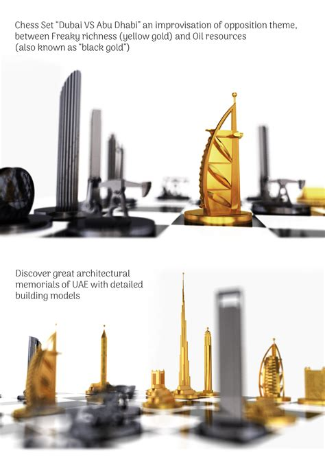 Set Dhabi Abu chess set dubai vs abu dhabi on behance