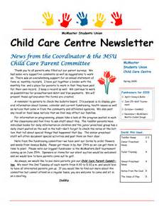 Childcare Newsletter Templates by Best Photos Of Day Care Newsletter Templates Sle