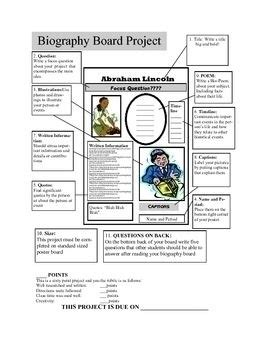 biography project lesson plan 7 best lesson ideas images on pinterest learning