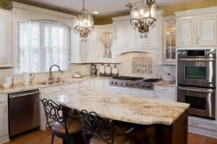 Cherry And White Kitchen Cabinets by Tuscan Antique White Kitchen Cabinets Jennair Appliances