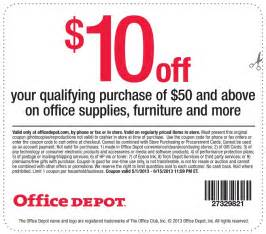 Office Depot Coupons Office Depot Coupon 10
