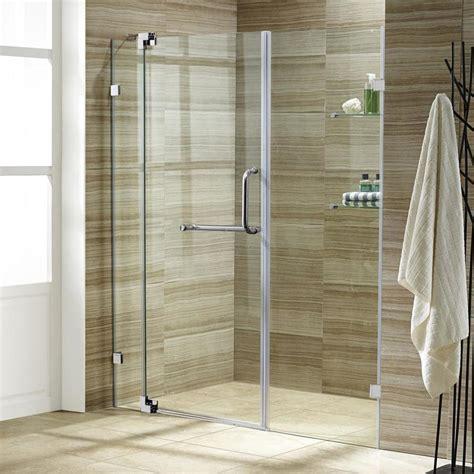 42 Shower Door by Shop Vigo 42 In To 48 In Frameless Pivot Shower Door At