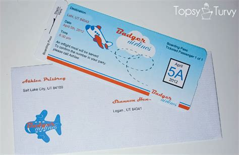 Boarding Pass Baby Shower Invitations by Airplane Baby Shower Boarding Pass Invitations Ashlee