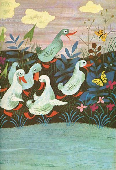 mary woodin england illustrator mallard ducks duck walk mary blair mid century illustration style
