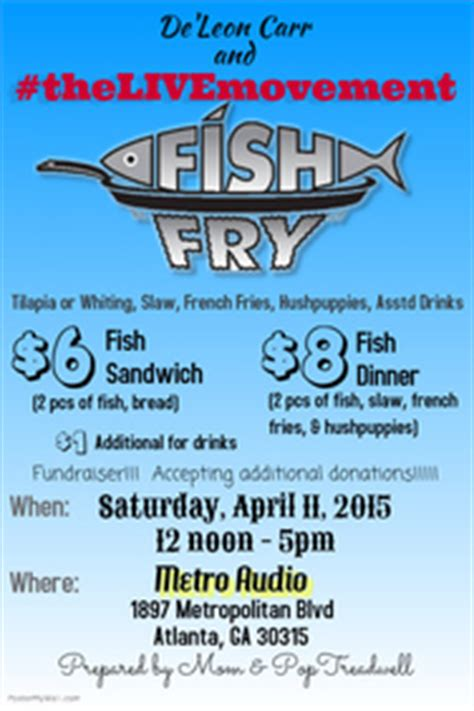 Fundraising Poster Templates Postermywall Free Fish Fry Flyer Template