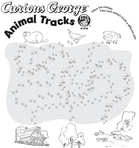 printable animal footprints free coloring pages of animal tracks