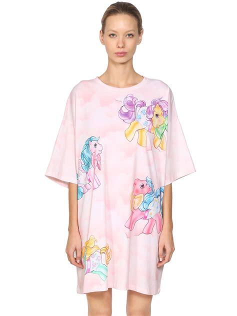 Dress Littlepony Pink moschino pony printed jersey t shirt dress pink