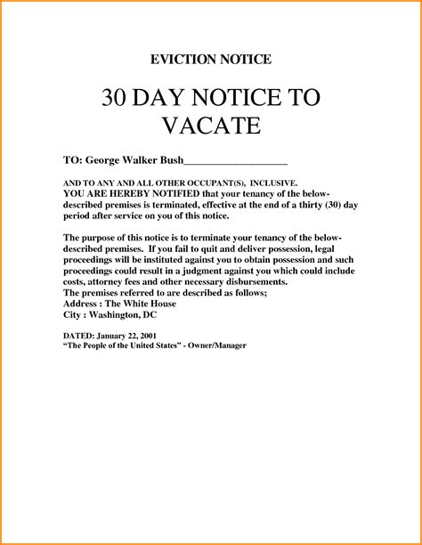 30 day eviction notice template 9 30 day eviction notice template cashier resume