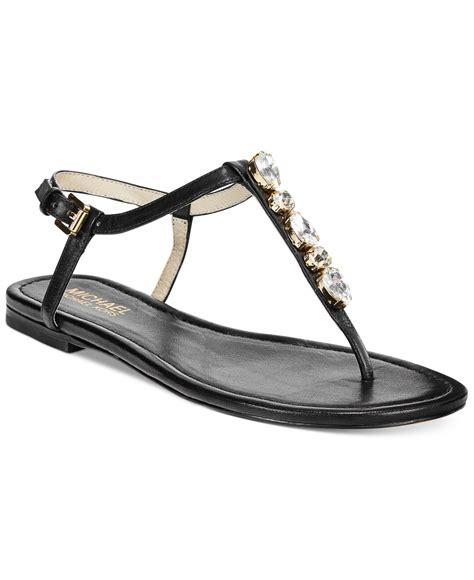 michael kors sandals for lyst michael kors michael jeweled flat