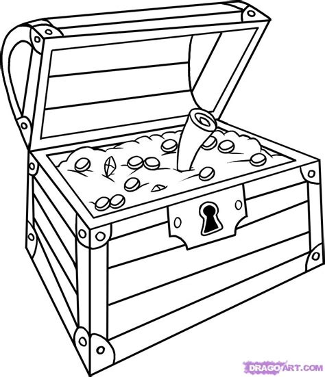 free printable treasure chest template open treasure chest coloring page az coloring pages