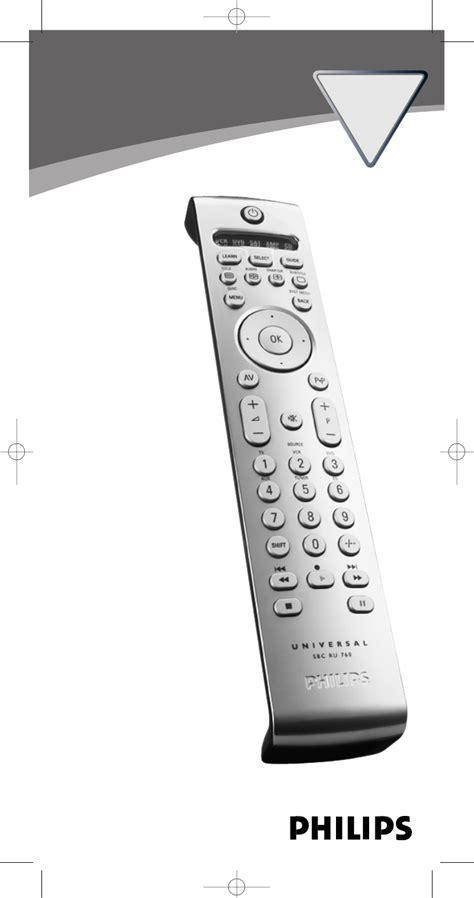 Philips Universal Remote Sbc Ru 760 00 User Guide