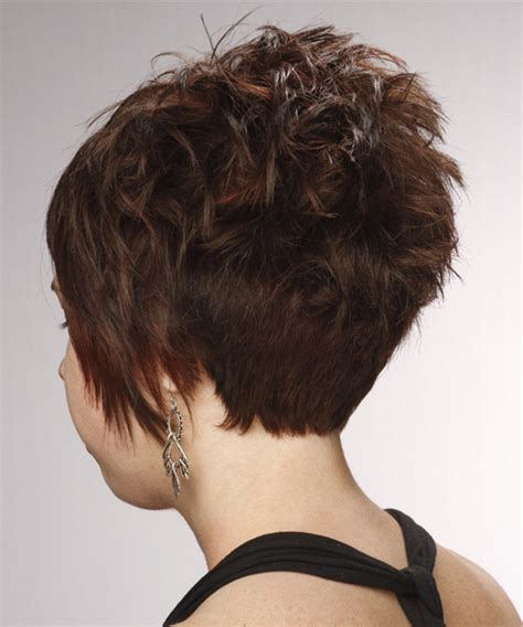 front and back views of chopped hair choppy hair cut side view hairstylegalleries com