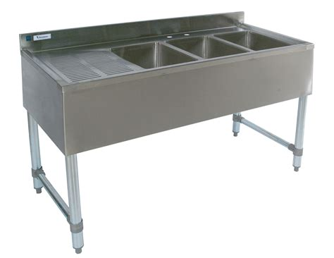 3 compartment bar sink 3 compartment stainless 48 quot bar sink db r free faucet