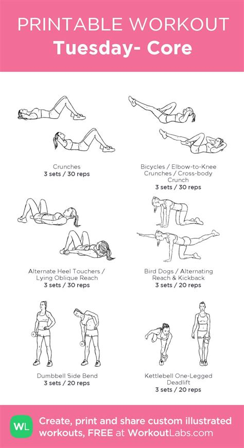 printable volleyball workouts tuesday core fitness inspiration pinterest workout