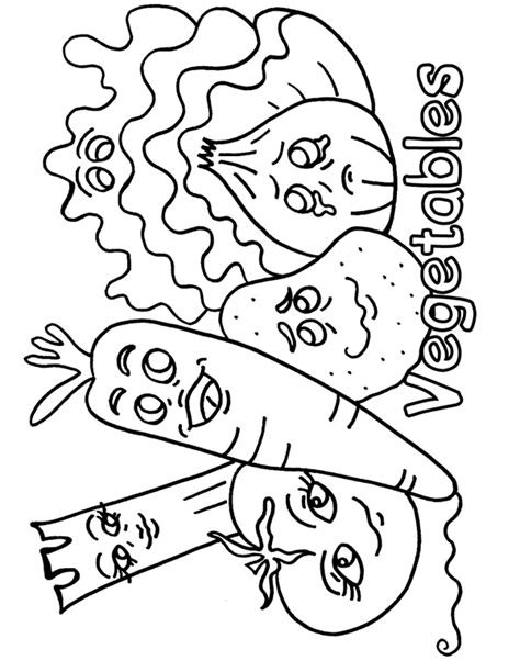 printable images vegetables vegetables coloring pages black and white coloring pages