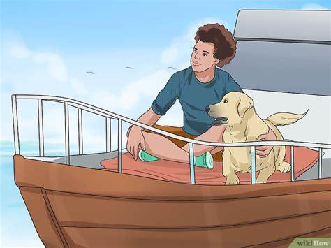 Tabir Surya Semprot cara bepergian naik perahu bersama anjing wikihow
