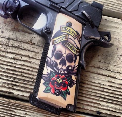 1911 tattoo designs 28 best 1911 grips images on